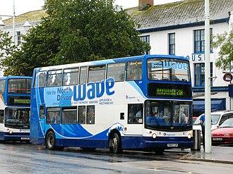 Stagecoach South West - Alexander ALX400 bodied Dennis Trident 2 with North Devon Wave branding (Bideford, August 2011)
