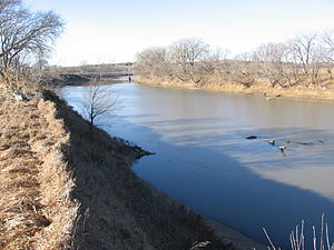 Big Blue River (Kansas) - Big Blue River above Manhattan, Kansas