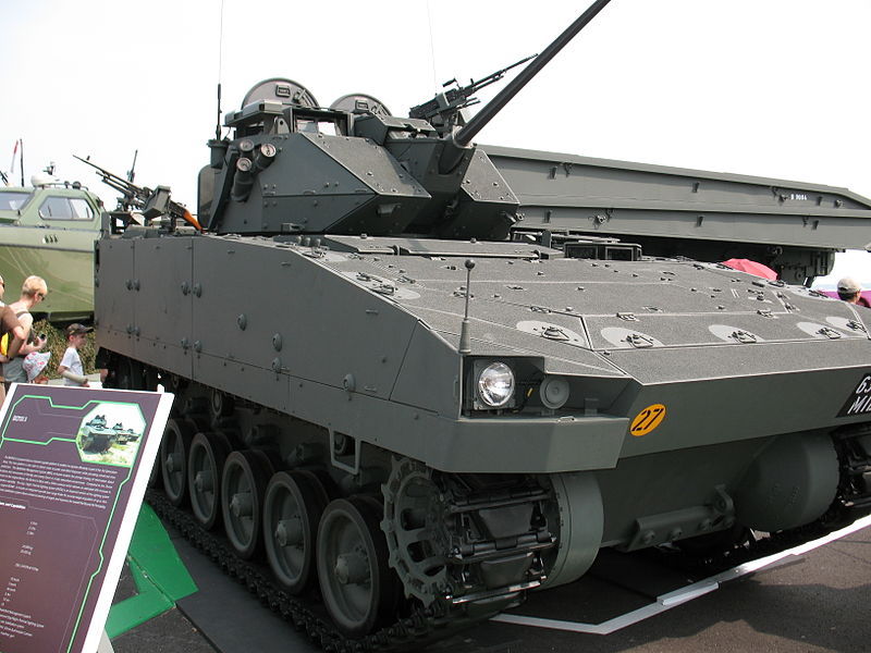 The up-gunned Bionix II with 30mm Bushmaster II cannon