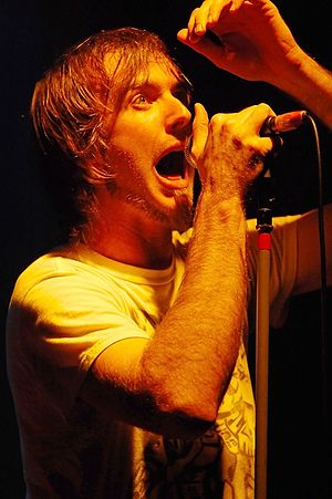 Birds of Tokyo - Birds of Tokyo vocalist Ian Kenny performing at the Fly by Night Club in 2008