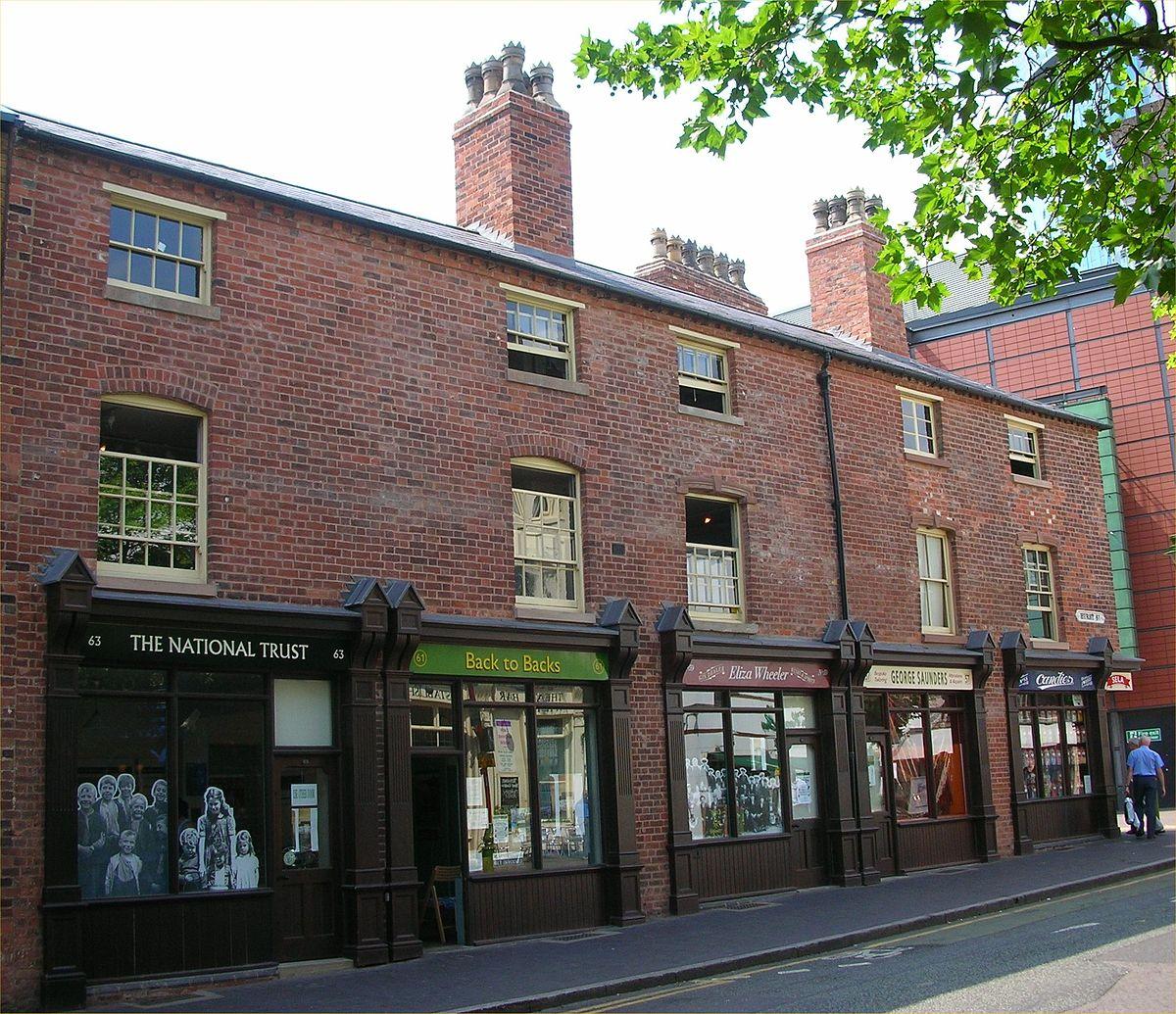 Back To Back Houses : Birmingham back to backs wikipedia