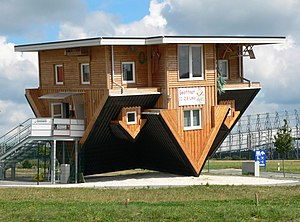 Building design - The upside down house in Bispingen, Germany