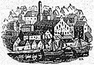 Black Friars' Monastery of Stockholm - Burial place of queens Beatrice and Richardis as it looked like in about 1510.