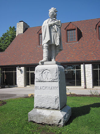 Black Hawk State Historic Site - Image: Black hawk statue