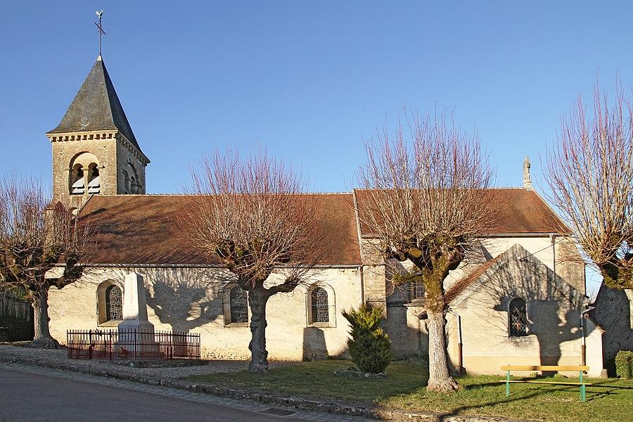 Église Saint-Pierre de Blannay côté ouest