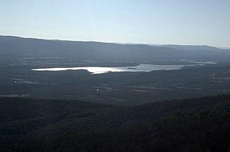 Blue Mountain Lake (Arkansas) - Lake as viewed from an overlook