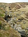 Boar Clough, dry, rocky stream-bed - geograph.org.uk - 1243059.jpg