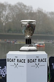 The 2019 Women's Boat Race trophy