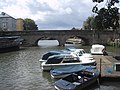 Boats moored below Folly Bridge - geograph.org.uk - 1420102.jpg