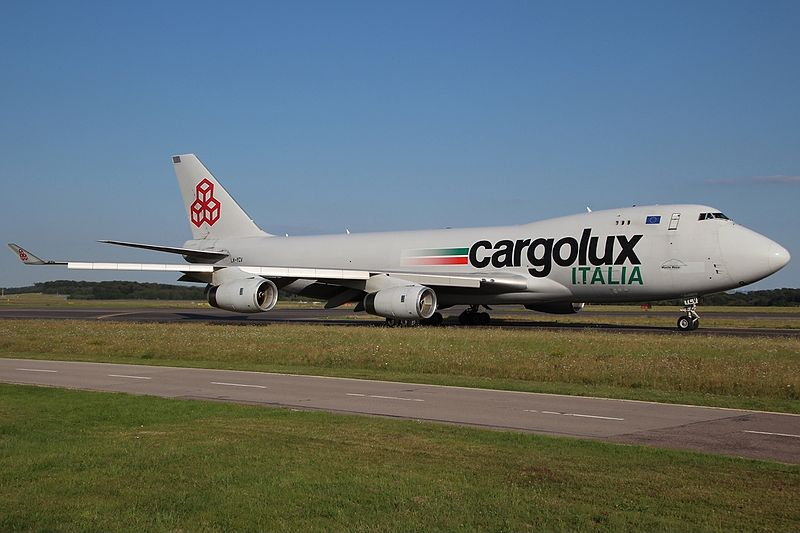 Файл:Boeing 747-4R7(F-SCD) Cargolux Italia LX-YCV, LUX Luxembourg (Findel), Luxembourg PP1377104158.jpg