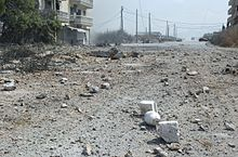 Bomb-damaged Beirut street July 20 2006.jpg