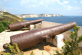 Bonifacio, Corse-du-Sud - Guns in the fortress of Bonifacio.