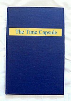 Westinghouse Time Capsules - Mock up representation of cover of blue buckram