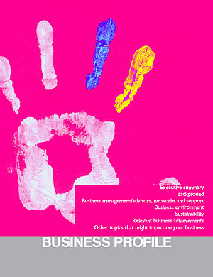 Cover for the Sustainable Business Booklet.