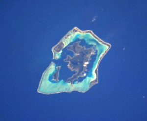 Bora Bora - NASA picture of the island of Bora Bora and its lagoon