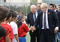 Boris Johnson & Reuven Rivlin with children from Shaar Shvyon football organization (2).jpg