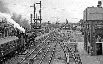 Boston railway station - View southward, towards Sleaford in 1964