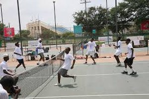 Sport in Botswana - Image: Botswana Junior Tennis Team training