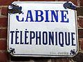 Boury-en-Vexin (60), ancienne pste, plaque émaillée - cabine téléphonique.jpg
