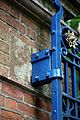 Bow Hill gate hinge for Upper Hardres Court in Upper Hardres Kent England.jpg