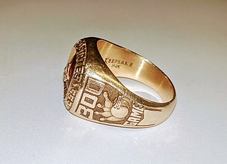 "Ten-pin bowling - A USBC ""300 game"" gold ring"