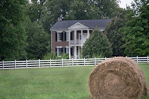 National Register of Historic Places listings in Rutherford County, Tennessee - Image: Boxwood Plantation Home