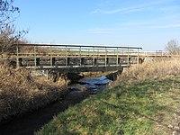 Brüel Bahnstrecke Wismar-Karow Brücke über Radebach 2014-03-11 8.JPG