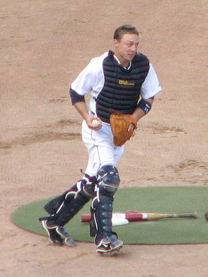 Brandon Inge - Inge playing as a catcher for the Detroit Tigers in 2008