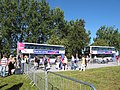Brands Hatch paralympics - shuttle buses - geograph.org.uk - 3120667.jpg