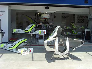Brawn BGP 001 - The revised front wing and engine cover at the 2009 Turkish Grand Prix.