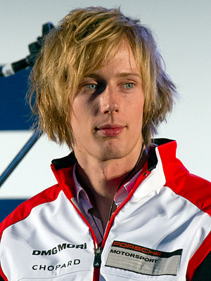 2016 6 Hours of Silverstone - Brendon Hartley (pictured in 2014) held the No. 1 Porsche's lead until he retired because of heavy contact with Michael Wainwright.