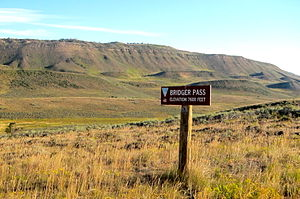 National Register of Historic Places listings in Carbon County, Wyoming - Image: Bridger Pass Road Sign