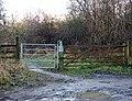 Bridleway gate, Draycote - geograph.org.uk - 1127102.jpg