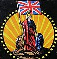 Britannia art detail, from- Fire mark for British General Insurance Company, Limited in London, England (cropped).jpg