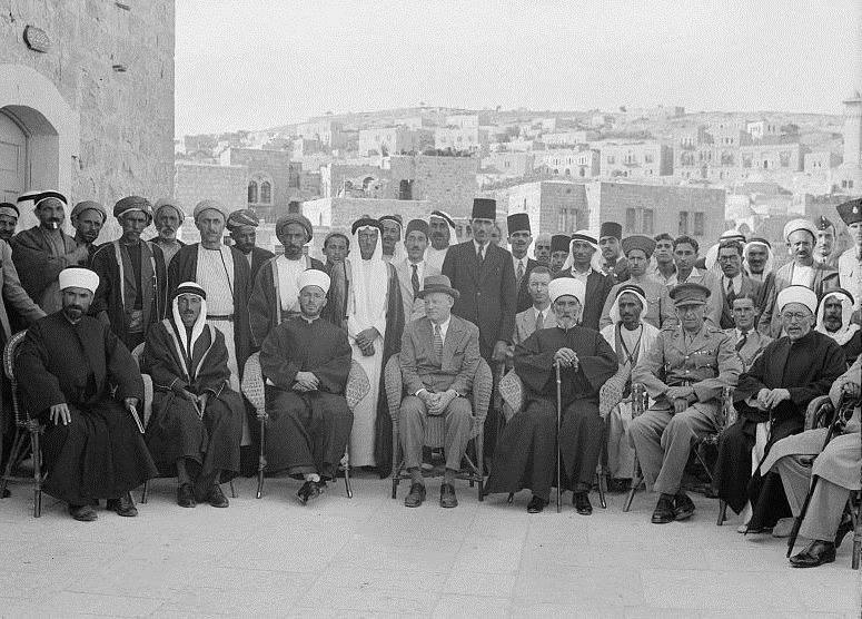 British loyalty meeting in Hebron, 3 July 1940