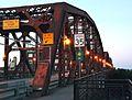 Broadway Bridge south sidewalk at dusk - Portland, Oregon.jpg