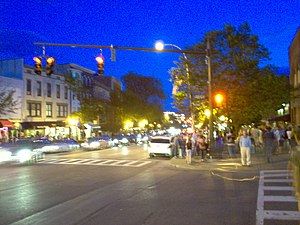 Broadway in Saratoga Springs, New York