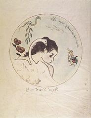 Leda (Design for a China Plate)