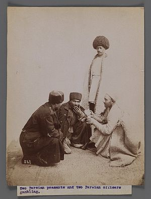 Papakha - Image: Brooklyn Museum Two Persian Peasants and Two Persian Officers Gambling One of 274 Vintage Photographs