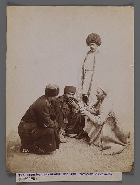 File:Brooklyn Museum - Two Persian Peasants and Two Persian Officers Gambling One of 274 Vintage Photographs.jpg