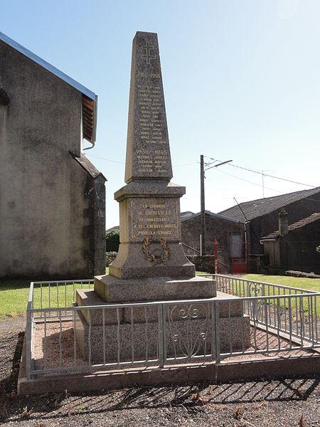Brouville (M-et-M) monument aux morts
