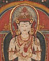Buddhist figure detail, from 14th-century painted art on Buddhist crown of Tibet, - MET DP12791-001 (cropped).jpg