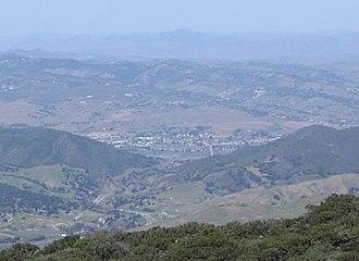 Buellton, California - Buellton, as seen from near Gaviota Peak in the Santa Ynez Mountains
