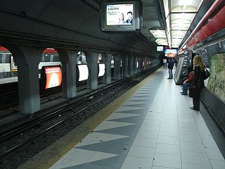 Callao (Line B Buenos Aires Underground) metro station on line B in Buenos Aires, Argentina