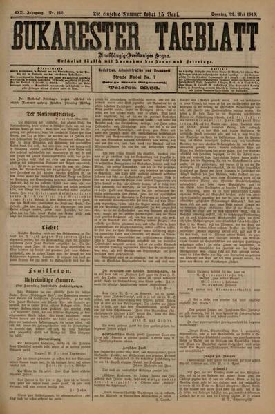 File:Bukarester Tagblatt 1910-05-22, nr. 112.pdf