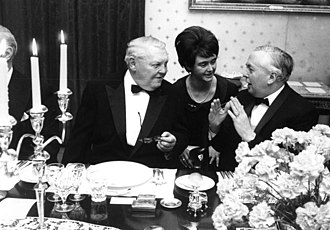 Labour government, 1964–1970 - Wilson with West German Chancellor Ludwig Erhard.