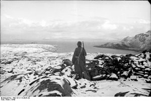 Forsøl - German observation post in the hills overlooking Forsøl during the Second World War