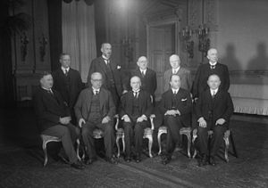 Paul Moldenhauer - Germany's Cabinet Brüning I (1930): Finance Minister Paul Moldenhauer standing in the second row, second from the right