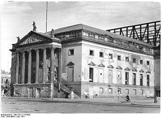Berlin State Opera - Damaged opera house, 1951 condition