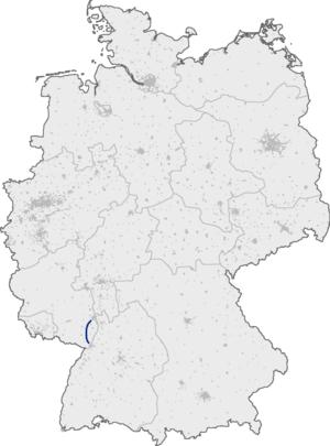 Bundesautobahn 65 - Image: Bundesautobahn 65 map